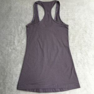 Lululemon Cool Racerback Striped Purple Tank Top 2